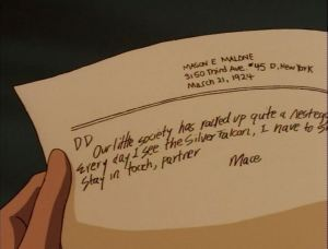 The most realistic depiction of handwriting we've ever had on this show.